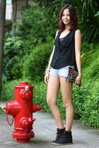 black chiffon Shopaholic vest