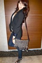 black cut out Cathy Jane shoes - black Zara blazer