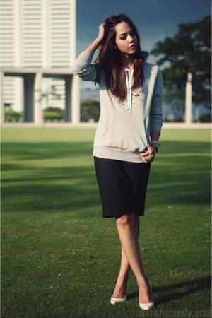 heather gray Topshop x Adidas hoodie