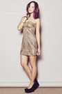 Gold-beaded-cocktail-scala-via-dress-empire-dress-black-apartment-8-heels
