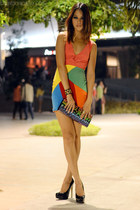 color blocked eric delos santos dress