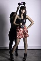 black - red Sundae skirt - black zoo -