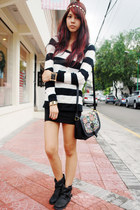 black Call it Spring bag - black Topshop boots - random from Bangkok sweater