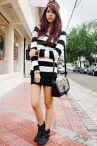 black Call it Spring bag - black Topshop boots - random from Bangkok sweater