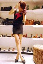 black bodycon WAGW dress
