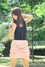Black-forever-21-light-pink-forever-21-skirt-black-forever-21-necklace-bla