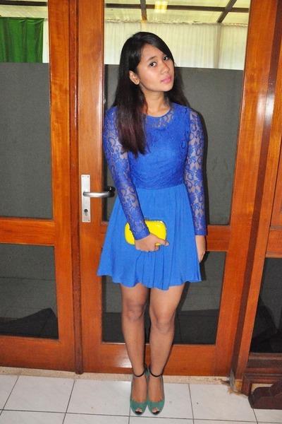 Blue Lace Dress H&m Dress