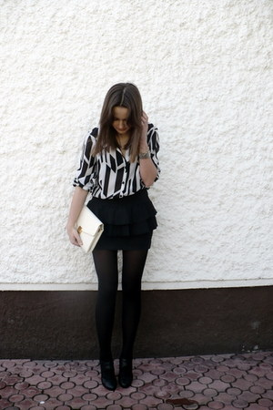 vintage shirt - vintage bag - H&amp;M heels - Zara skirt