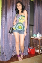 Charlotte Russe blouse - shorts - purse