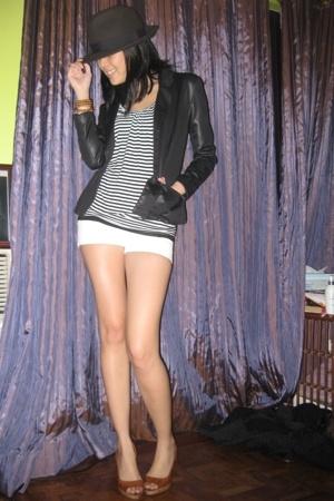 vintage jacket - Topshop - Zara Trf - Zara men shorts - hat
