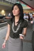 Topshop blouse - department store skirt