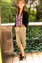 scallop Forever 21 top - Terranova cardigan - random from Malaysia pants - studd