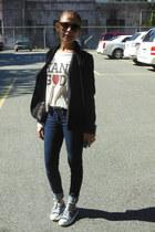 navy Forever 21 jeans - black Forever 21 blazer