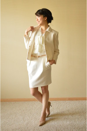 Zara blazer - Zara skirt - White House Black Market blouse - Guess heels