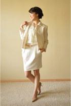 Zara blazer - Zara skirt - White House Black Market blouse - Guess heels