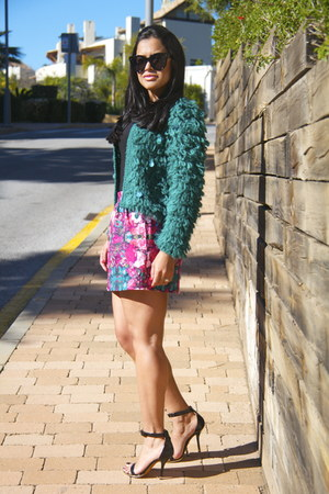 teal - jacket - black Givenchy heels