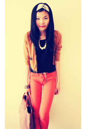 bronze Passion Fusion jacket - camel rubi boots - carrot orange supre jeans