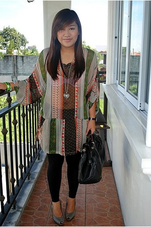 Greenhills tights - Greenhills bag - Charles & Keith heels - thrifted blouse - F