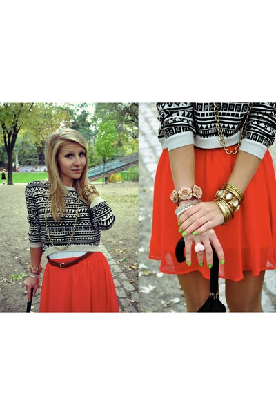 Accessorize ring - new look bracelet - H&M jumper - H&M skirt - asos heels