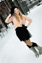 Zara boots - reserved sweater - pull&bear skirt