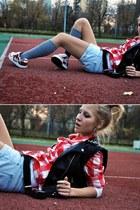 pull&bear shirt - Zara shorts - H&M vest - no name stockings
