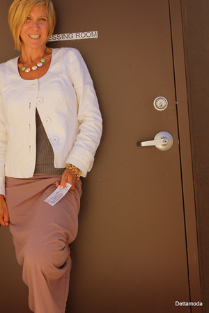 Velvet skirt - Halogen blazer - New York & Company top