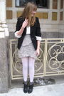 Black-2nd-hand-blazer-white-stolen-from-dad-sweater-beige-via-grandma-scarf-
