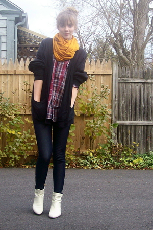 Target scarf - thrift shirt - thrift sweater - f21 pants - Ebay shoes