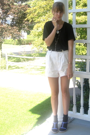 f21 shirt - hand me down shorts - 2nd Hand shoes - watch thrift bracelet