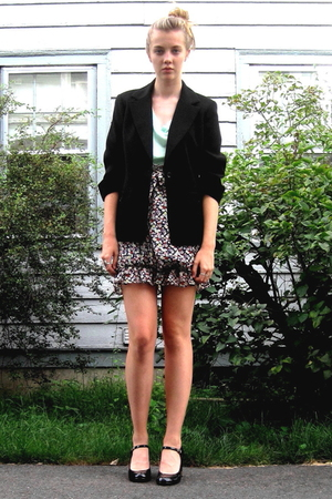 forever 21 top - forever 21 skirt - 2nd Hand blazer - delias shoes