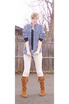 vintage shirt - pants - Minnetonka boots