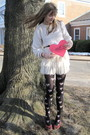 White-stolen-from-dad-sweater-white-f21-skirt-black-topshop-tights-red-col