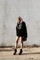black maison martin margiela boots - black Leifsdottir jacket