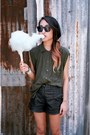 Sleeveless-white-stag-shirt-leather-forever-21-shorts-proenza-schouler-sungl