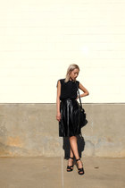 black Alexander Wang shirt - black Sheinside skirt - black Givenchy sandals