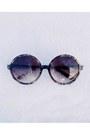 Black-h-m-dress-burnt-orange-h-m-sunglasses-black-topshop-wedges-gold-diy-