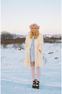 Light-yellow-vintage-coat-light-blue-vintage-dress-ivory-asos-tights-pink-