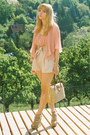 Beige-vintage-bag-beige-h-m-shorts-beige-zara-wedges-light-pink-pleated-ro