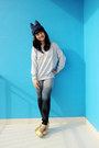 Dyed-guess-jeans-sick-girl-gowigasa-sweater-gold-junejulia-wedges