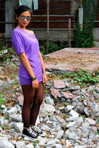 amethyst off shoulders Victorias Secret Pink blouse