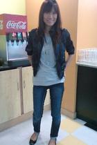 Zara shirt - thrifted jacket - Penshoppe jeans - Gino Ventori shoes - iamgirlie