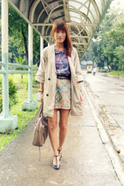 carrot orange paisley Shop Copper skirt - camel trench The Ramp coat