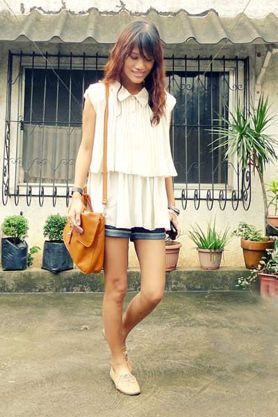 beige Mental blouse - beige customized brogues shoes