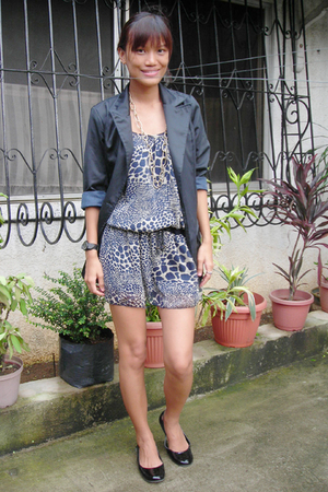 dress - from Thailand blazer - random brand leggings