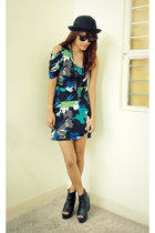 navy stubborn eve dress - black bought online shoes - black Forever 21 divisoria