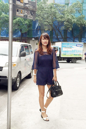 mesh Gobuycomph romper - Charles & Keith sandals