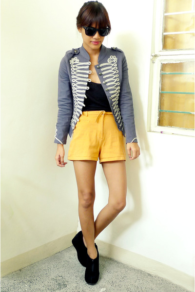 light orange Archiveclothing shorts - heather gray Penshoppe blazer