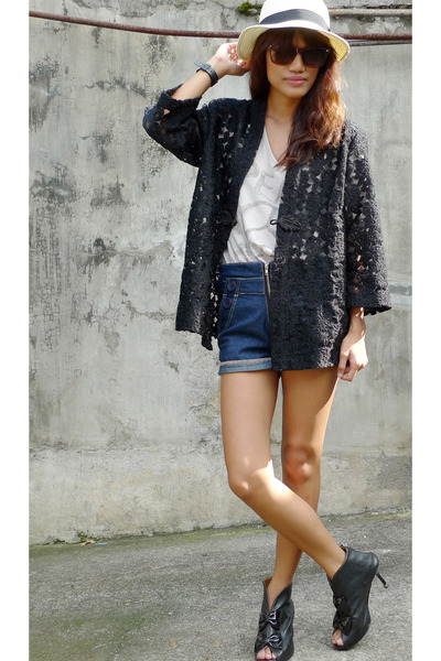 black archiveclothing lace jacket - black ichigoshoesmultiplycom shoes - gray pe