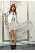 silver Sheinside dress - black AsianVogue boots