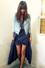 Navy-willow-dress-light-blue-hk-jacket-navy-thrifted-skirt-black-forever-2